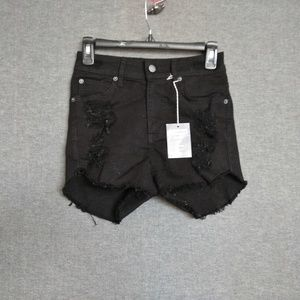 Carmar Olivia Fitted High Rise Shorts Destroyed